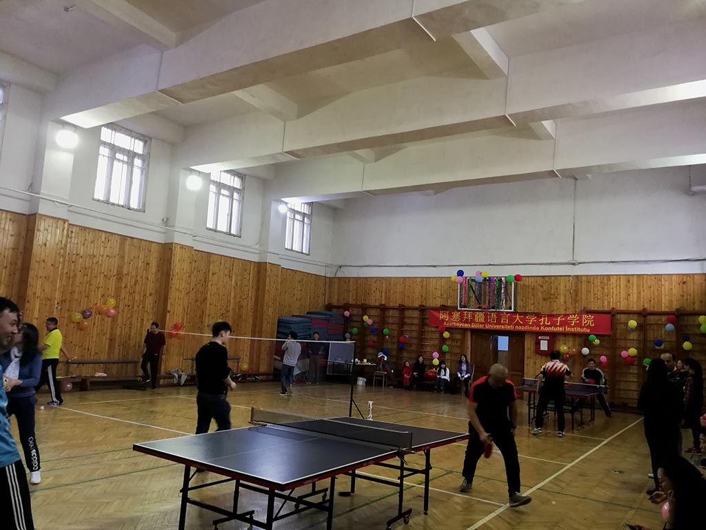 A New Year Tournament of Chinese Friendship was held at Azerbaijan University of Languages