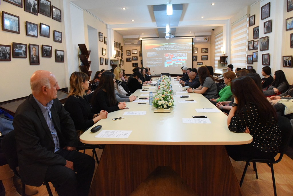 A Series of Round Table Discussions Devoted to the Genocide of Xocalı are being Held in Azerbaijan University of Languages