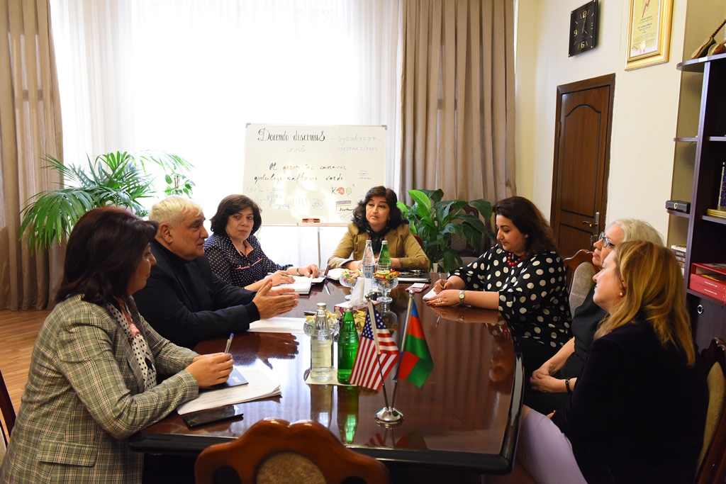 Academician Kamal Abdulla, Rector of Azerbaijan University of Languages, Met Anne Johns, who is in Charge of the Regional American Centres of the State Department of the USA