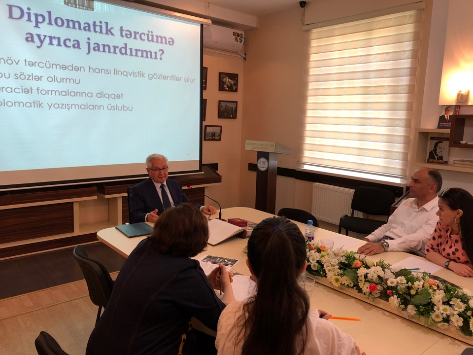 Workshop on the Rules of Protocol in Diplomatic and Interpretation at Azerbaijan University of Languages