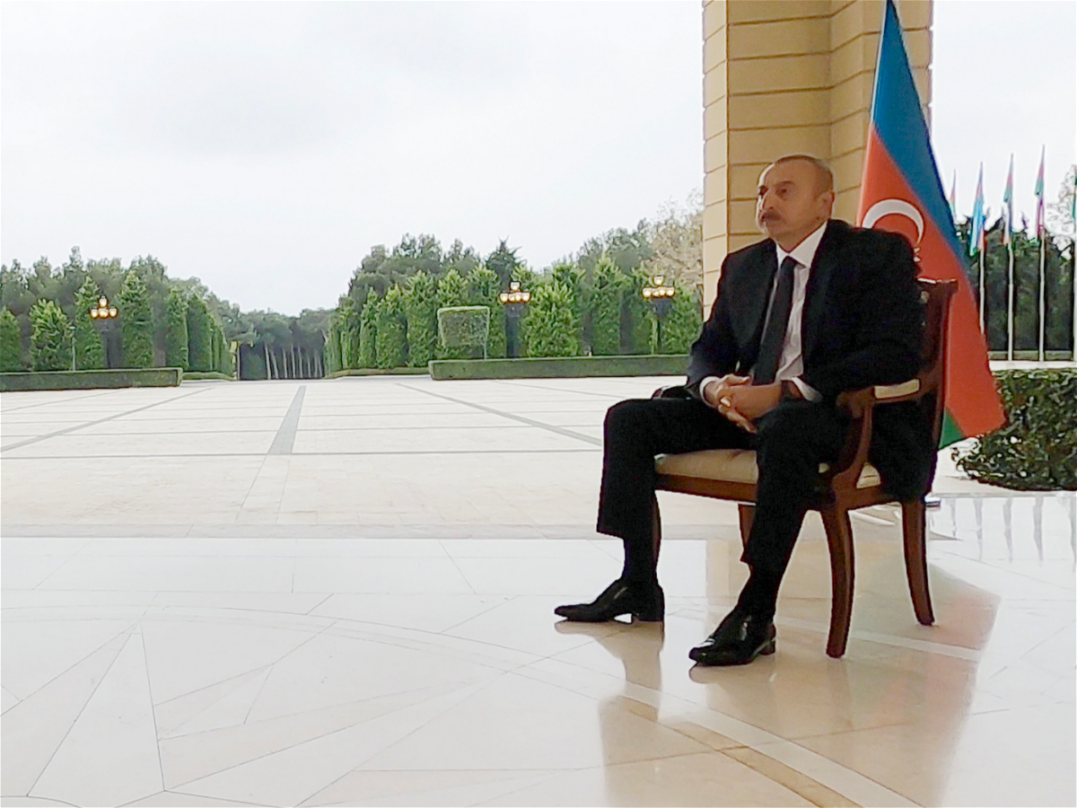 Ilham Aliyev was interviewed by BBC News
